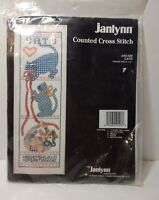 "Cats Cross Stitch Kit Janlynn Unopened ABC 11 Count Aida 9"" x 26"""