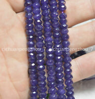 Faceted 4x6mm Purple Amethyst Abacus Gemstone Rondelle Loose Beads 15'' Strand