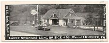 Noonan's Long Bridge Esso on Lincoln Highway in Ligonier PA Matchbook Cover