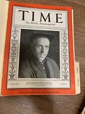 MAGAZINE TIME Stakhanovism's Great Stakhanov December 16 1935 Vintage