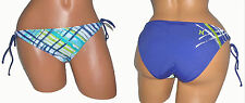 HURLEY JR S 4 6 WOMEN SWIMSUIT BIKINI BOTTOM CHANGING LANES SIDE TIE BLUE 3130