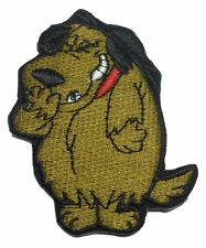 Mutley The Dog 2 1/2 Inch Tall Embroidered Iron On Patch