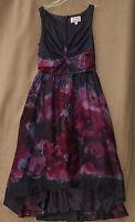 Lela Rose Neiman Marcus Target Womens Dress Size 2 Purple Watercolor Hi Lo
