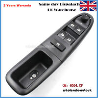 Front Driver Side Electric Window Control Switch 6554.CF 6554CF For PEUGEOT 406