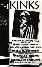 "11/12/93PGN42 LIVE TOUR DATES ADVERT 7X5"" THE KINKS"