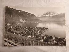 AK alte Ansichtskarte Montreux et les Dents du Midi 16.4.1958 gelaufen