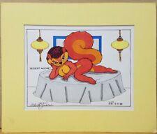 Allen Fishbeck Furry Fandom Hand Drawn Art Matted Frame RARE