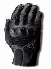 Guanti nero in pelle e tessuto per motociclista taglia XL