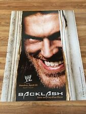 WWE BACKLASH 2007 EDGE / NEW YEARS REVOLUTION 2007 DX 2 Sided Poster 12x16