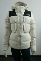NWT Womens The North Face UX (Nuptse) 550-Down Insulated Hooded Jacket - White