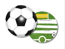 6 Einladungskarten Einladung Einladungen Fußball rund Kindergeburtstag Party dh