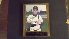 Will Clark Signed COA 8x10 Picture in Placard