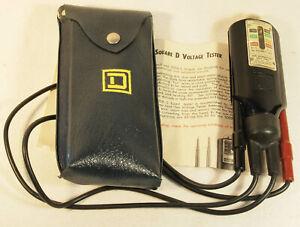 Square D Company WIGGINTON Voltage Tester #5008 + Original Pouch + Instructions