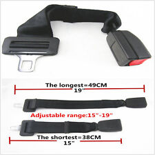 "Adjustable Seat Belt Click-In Buckle Extender 15""-19"" Fit Car SUV Black-E4 Safe"