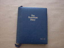 Vintage The Economist Diary E.F.D Hand Made in Real Leather Sprial Book