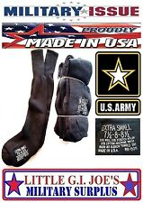 3 Pr NEW MILITARY ISSUE Black Wool,Cotton Cushion Sole Boot Socks 7 7.5 8 8.5