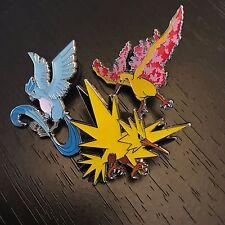 POKEMON GO: ARTICUNO ZAPDOS MOLTRES - OFFICIAL 3-PIN SET - VALOR MYSTIC INSTINCT