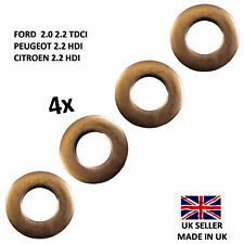 FORD TRANSIT INJECTOR COPPER WASHERS SEALS 2000-14 2.0 2.2 2.4 TDCI TDDI MK6 MK7