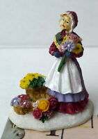 Grandeur Noel Flower Girl Victorian Christmas Village  2001 Miniature