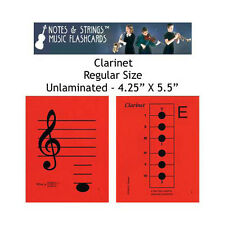 "Clarinet 4.25""x5.5"" Music Flashcards by Notes & Strings"