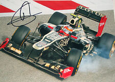 Romain Grosjean SIGNED XL 16x12 Photo, Lotus-Renault E21 , Spanish GP 2013