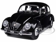 1955 VOLKSWAGEN BEETLE KAFER LIMOUSINE BLACK 1/18 DIECAST MODEL BY AUTOART 79776