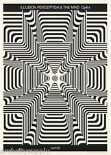 LOT 2 POSTERS: OPTICAL ILLUSION - SOMA - ILLUSION PERCEPTION -FREE SHIP  LC15 A