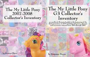 The My Little Pony G3 & 2007-2008 Collectors Inventory Summer Hayes Books Combo