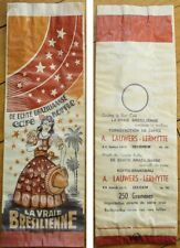 1930s Coffee Bag: 'La Vraie Bresilienne' - Brazilian Coffee Bag from Europe