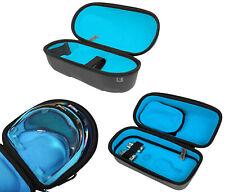 Exalt Le Carbon Paintball V3 Lens / Loader / Tank Case Charcoal Cyan Microfiber