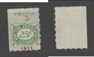 Mint Manitoba Telephone Stamp #MT8 (Lot #19402)