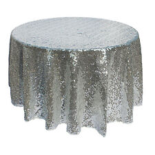 "120cm/48"" Wedding Party Sparkly Sequin Tablecloth Table Runner Birthday Decor 1"