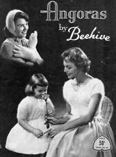 Vintage Knitting PATTERNS Angora Hats Sweaters Stoles Bolero Mitts Women Child