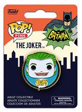 OFFICIAL DC COMICS BATMAN (CLASSIC TV SERIES) THE JOKER POP! HEROES PIN BADGE