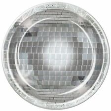 Pack of 8 Disco Ball Party Plates - 23 cm - 70's Musical Party Tableware