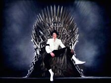 "SUPERB RARE ORIGINAL ZEN O'CONOR ""Michael Jackson"" IRON THRONE SERIES PAINTING"