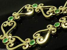 Natural Emerald Yellow Gold Fine Bracelets