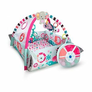 Bright Starts 5 in1 Ball Play Mat Activity Gym Pink Baby Girl Newbon Toddler