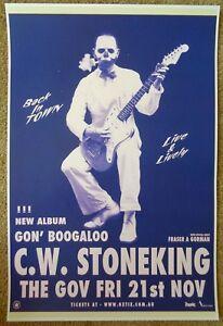 C.W. STONEKING 2014 Gig POSTER Australia Concert Hindmarsh Adelaide