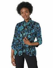 Alex Evenings Women's Mandarin Neck Jacket ONLY Petite Regular Black/Blue XL