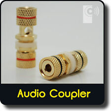 (6x) Banana Plug Coupler (female Connector) for Wall Plate Speaker Socket BC1