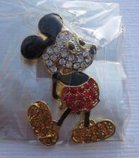 DISNEY Mickey Mouse STRASS GLITTER SPILLA SPILLA NUOVO (a9.2)