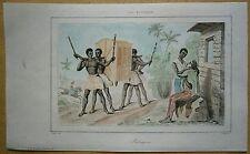 1848 print PALANQUIN, REUNION, INDIAN OCEAN (#5)
