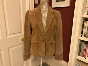 Wilsons Leather Maxima size Medium Ladies brown leather jacket blazer