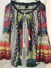 I am ALBERTO MAKALI  Women's Off Shoulder Lace/multi color Blouse Sz M