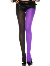 1PC Opaque Two Color Jester Everyday Full Pantyhose Stretch Tights Hosiery Dance