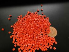 PP Plastic Pellets Polypropylene Resin Material Injection Molding Orange 10 Lbs