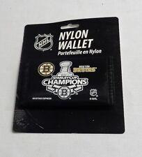 NHL Boston Bruins 2011 Stanley Cup Champions Nylon Tri Fold Wallet FREESHIP