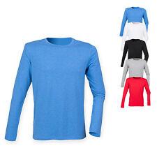 SF Men Herren T-Shirt FEEL GOOD LONG SLEEVED STRETCH T Langarm Neu SFM124