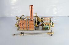 M10V4-steam  Live Gas Burner Steam Engine + Boiler + Variable Pitch Propeller